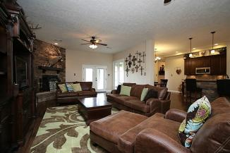 Before staging of family room for MLS pictures.